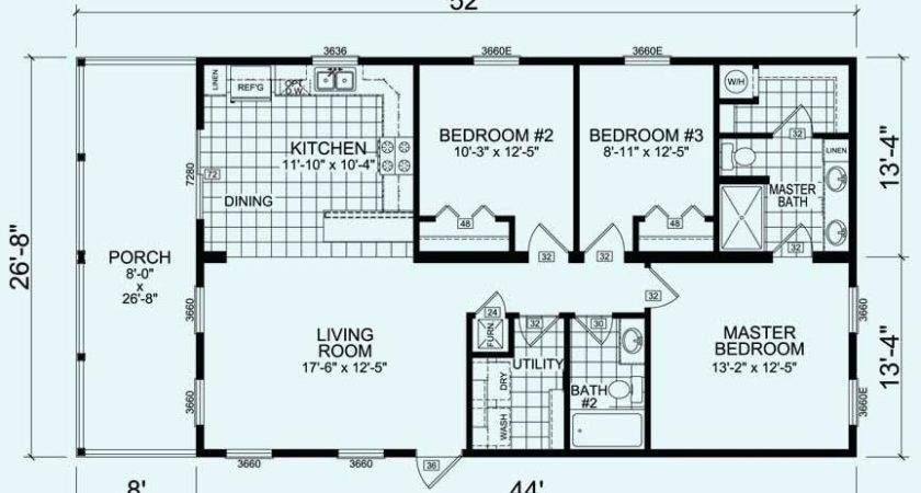 Bedroom Manufactured Home Plans