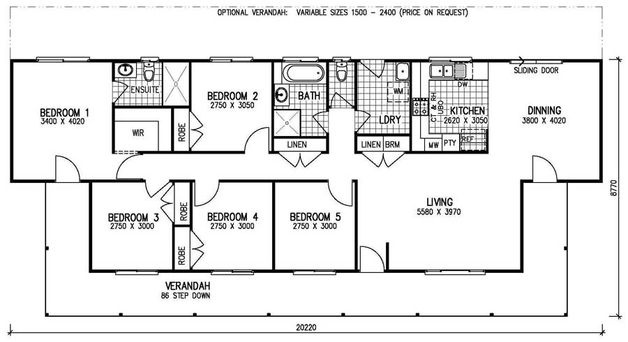 Bedroom Mobile Home Floor Plans Karingal Mkii