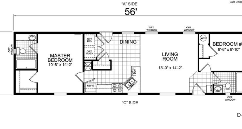 Bedroom Mobile Home Plans Homes Floor
