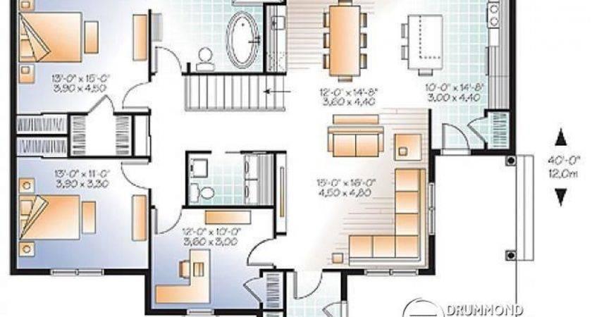Bedroom Open Floor Plan House Plans Two