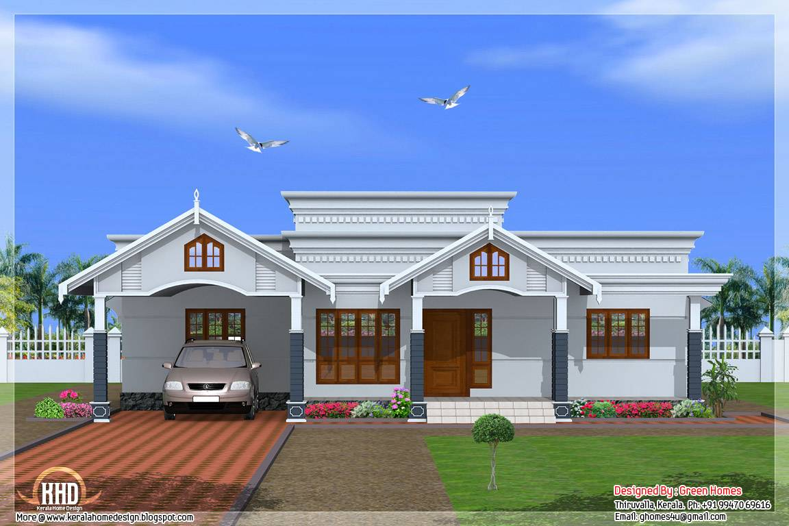 Bedroom Single Floor Kerala House Plan Home
