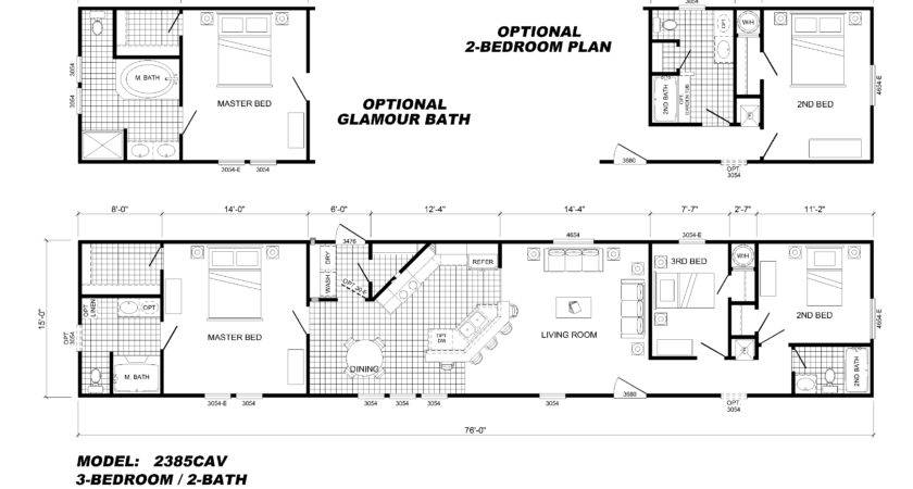 Bedroom Single Wide Mobile Home Floor Plans Also