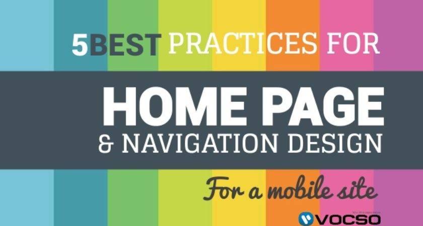 Best Practices Home Navigation Design