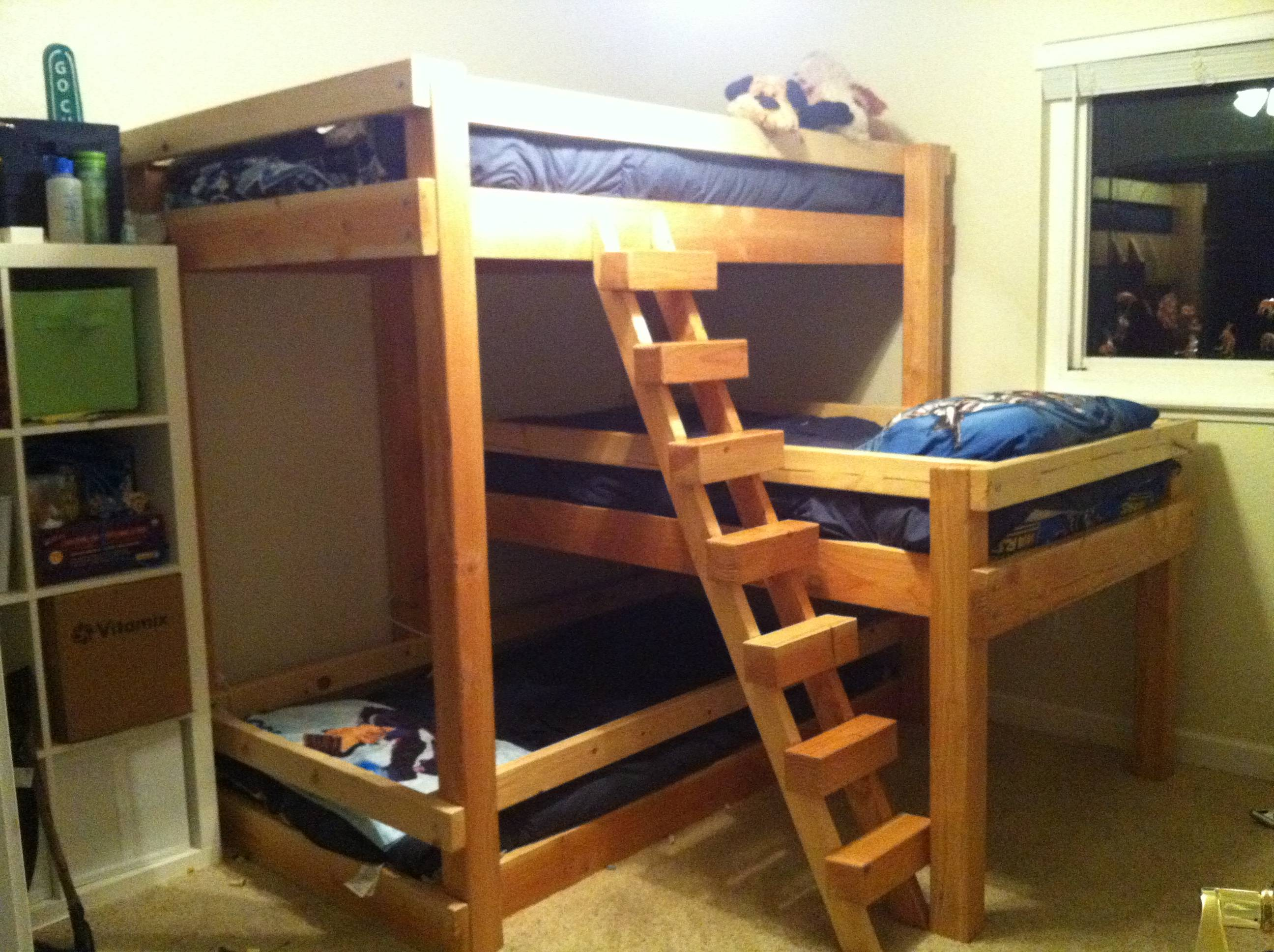 Best Triple Lindy Bunk Bed Plans Designs Remodeling