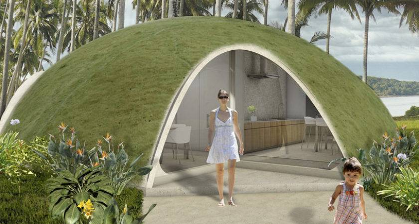 Binishell Modular Shelters Look Like Green Hobbit Homes Inhabitat