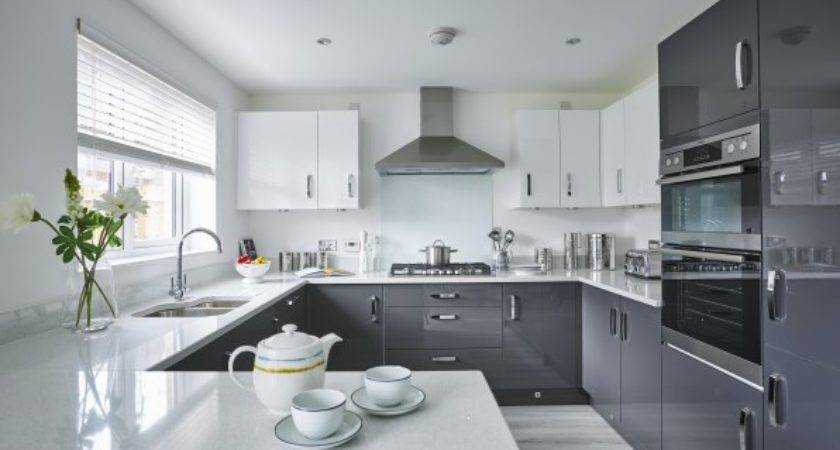 Black Grey Kitchens Taylor Wimpey