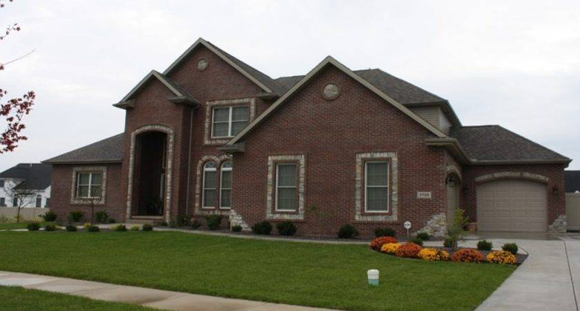 Brick Home Exterior Red