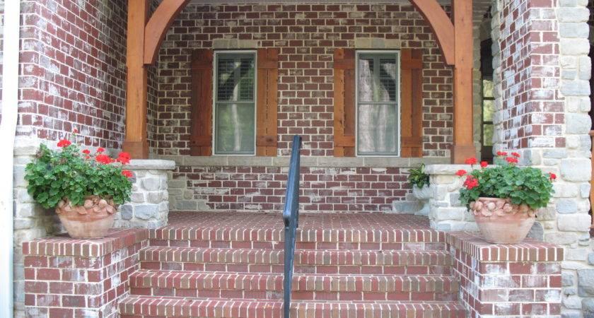 Brick Porch Stone Accents