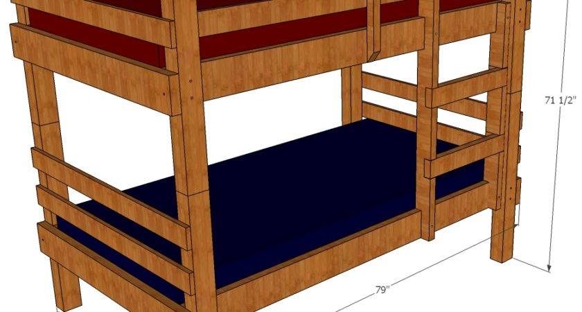 Bunk Bed Building Plans Stairs Woodworking