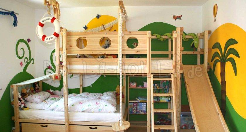 Bunk Bed Laterally Staggered Billi Bolli Kids Furniture