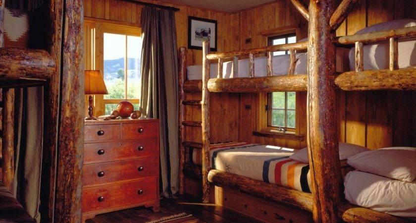 Cabin Bedroom Decorating Ideas Bunk Beds Lodge
