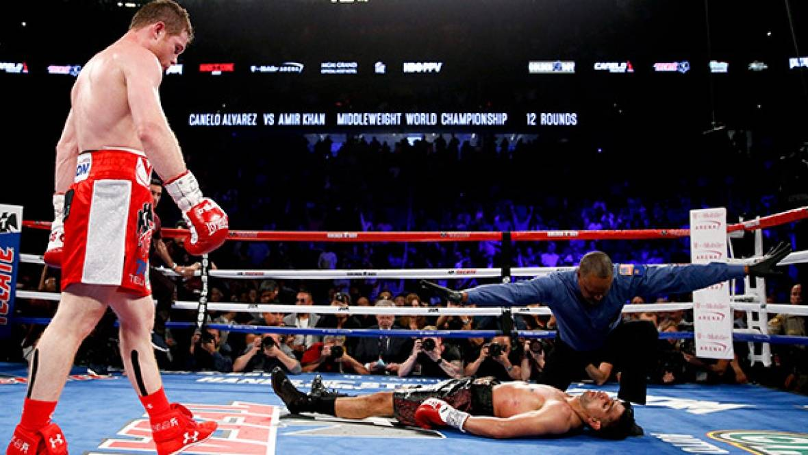 Canelo Alvarez Defeats Amir Khan Massive Knock Out Punch Cbc