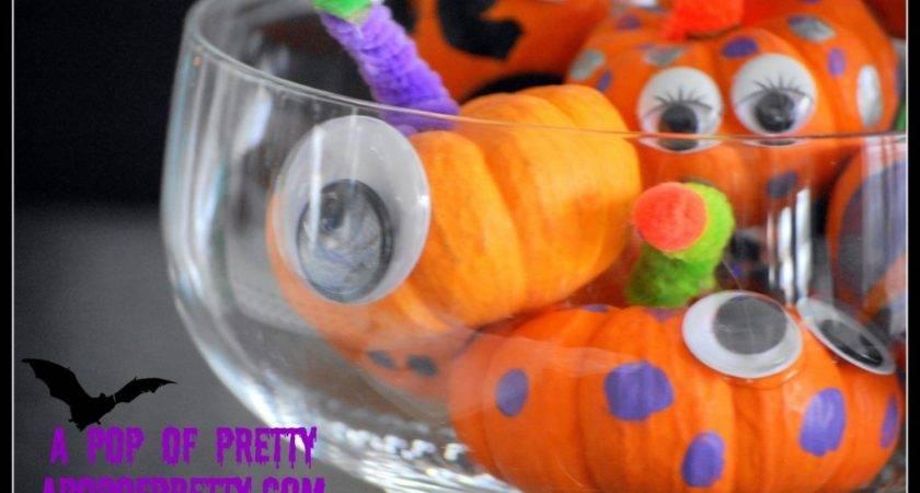 Carve Mini Pumpkin Monsters Easy Kids Halloween Activity Pop