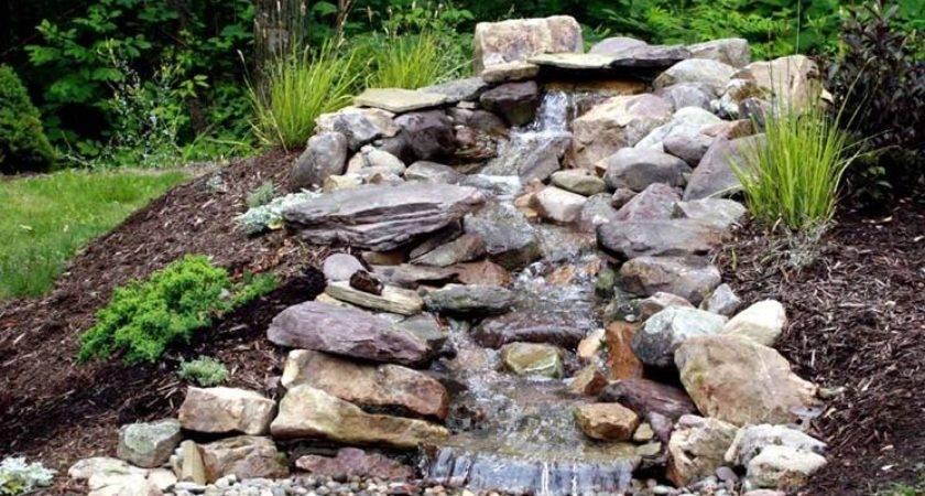 Cascate Pietra Giardino Acqua Come Fare