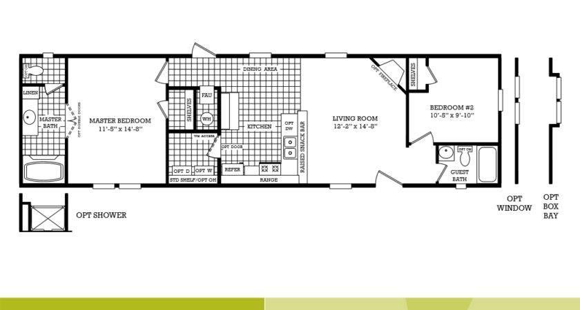 3 bedroom single wide mobile home floor plans