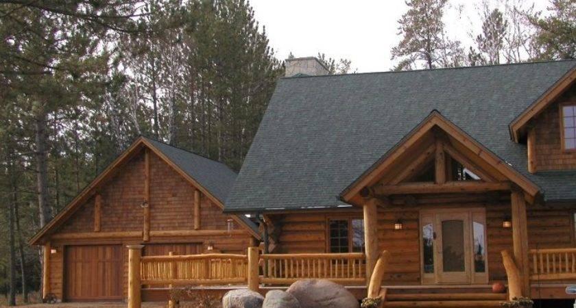 Cedar Log Home Decks Railing Huismanconcepts