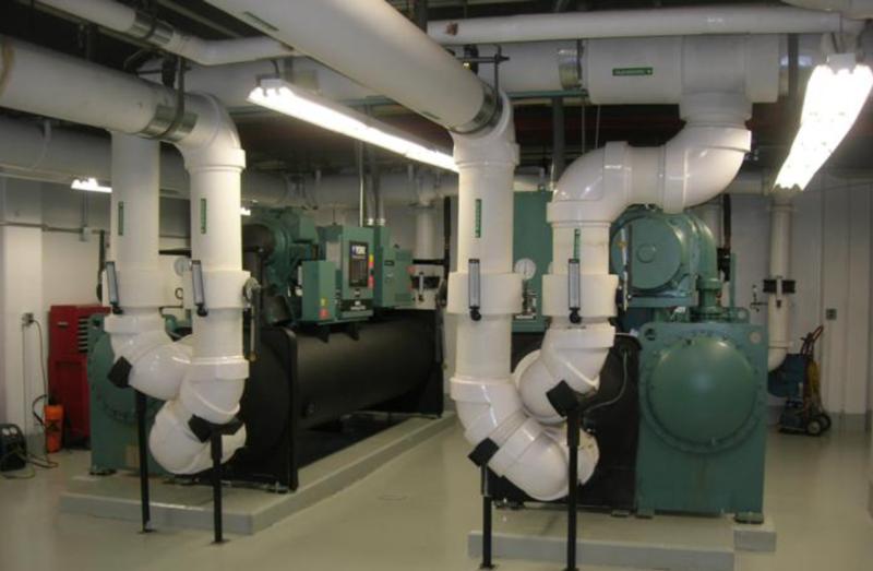 Central Plant Hyatt Regency Louisville Walker Mechanical Contractors