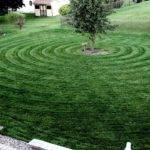 Circular Lawn Striping Pattern Youtube