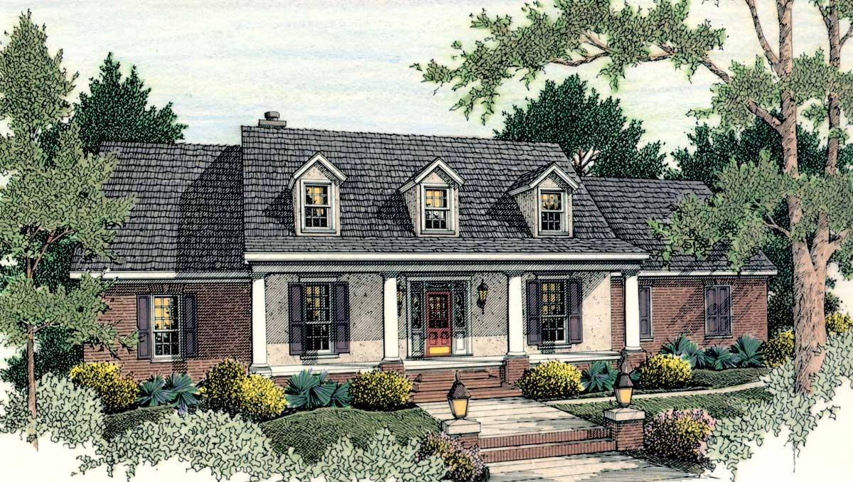 Classic American Home Plan Architectural