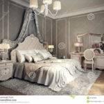 Classic Bedroom Interior Illustration