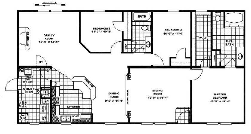 Clayton Homes Floor Plan Double Wide