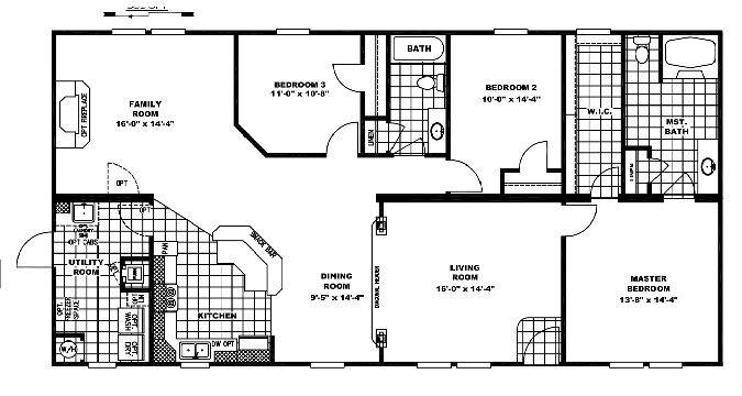 Clayton Homes Floor Plan Double Wide