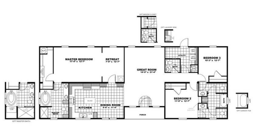 Clayton Homes Home Floor Plan Manufactured