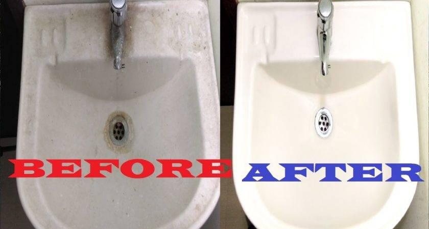 Clean Bathroom Sink Ceramic Porcelain