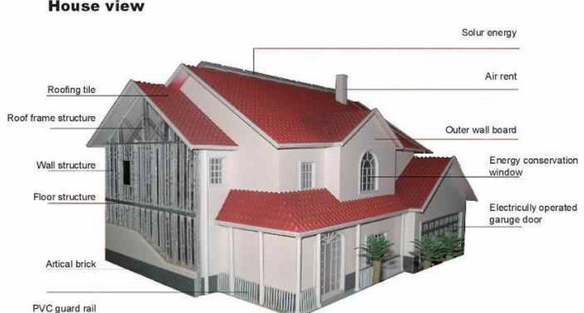 Clima Provides Light Steel Villa Modular Home Vacation House Single