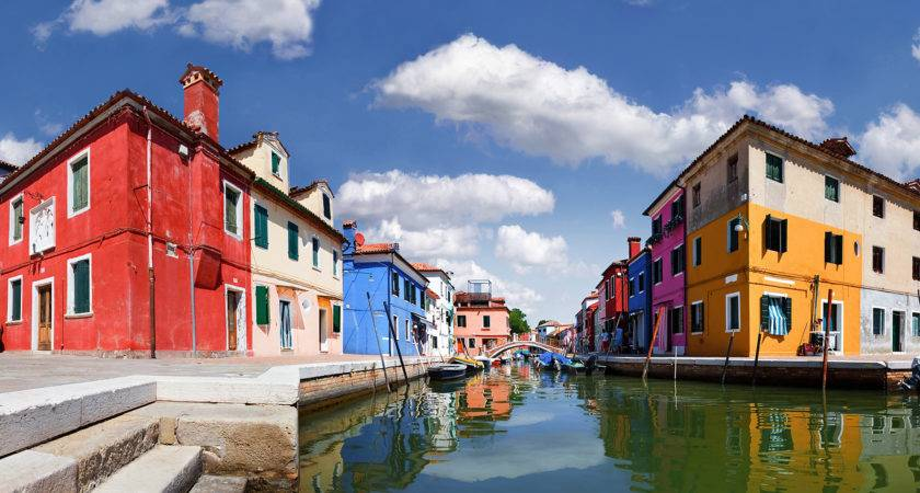 Colorful Homes Burano Venice Italy Hqworld High Quality