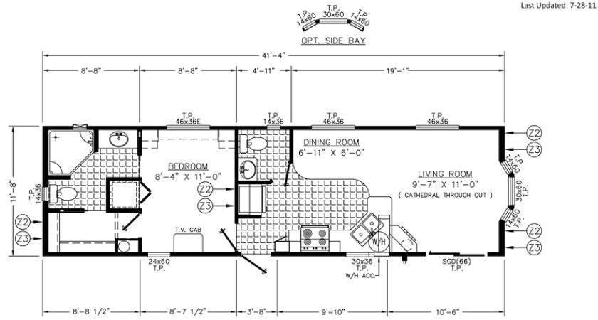 Colson Floor Plan Park Model Homes Florida Gerogia