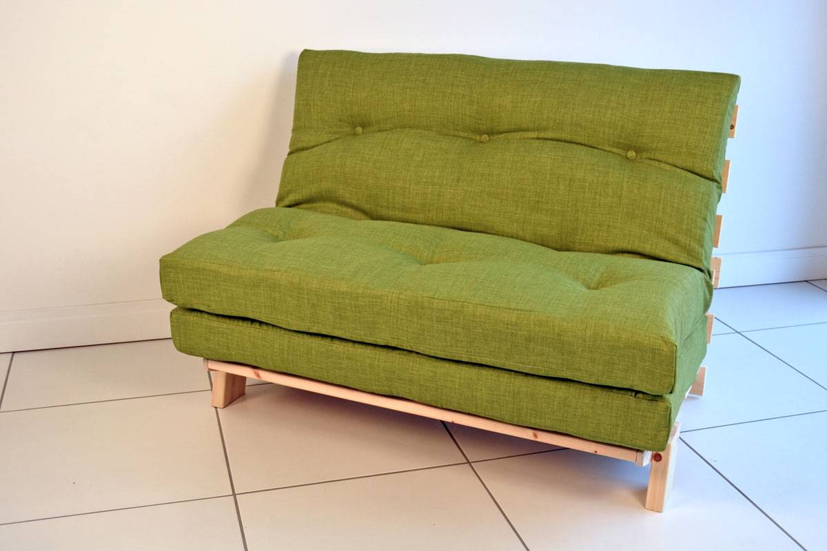 Compact Futon Sofa Bed Double Small Footprint   Kelseybash ...