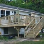 Cool Mobile Home Steps Decks Wooden Stairwell Framed