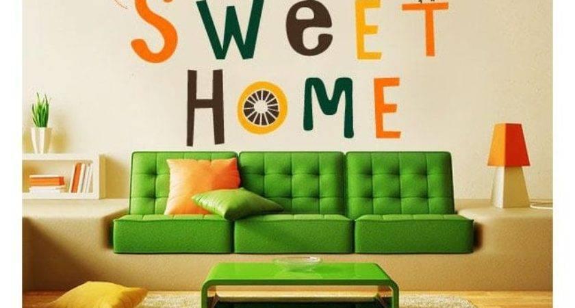 Coratif Vinyl Autocollant Home Sweet
