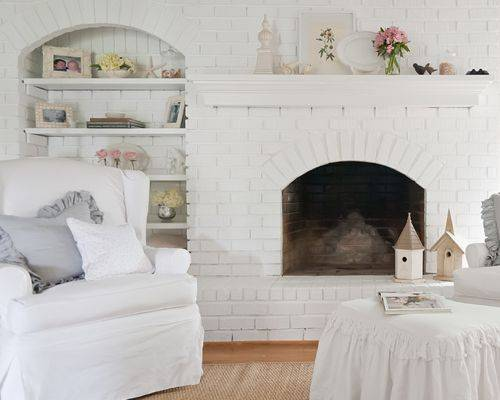 Cottage Fireplace Ideas Remodel Decor