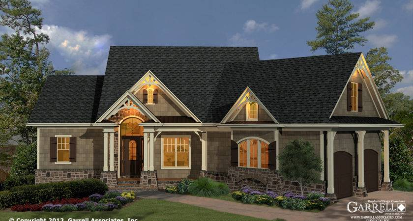 Cottage House Plan Front Elevation Ranch Style Plans
