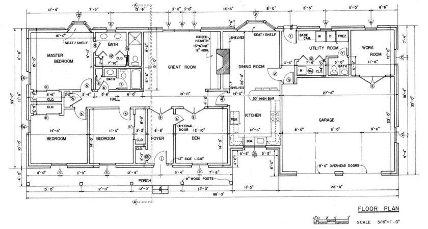 Country Ranch House Plans Floor