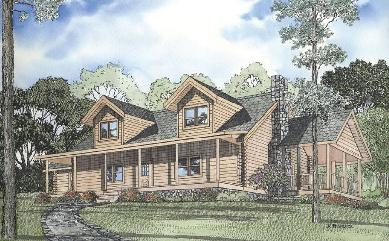 Country Squire Floorplan Down Home Log Homes