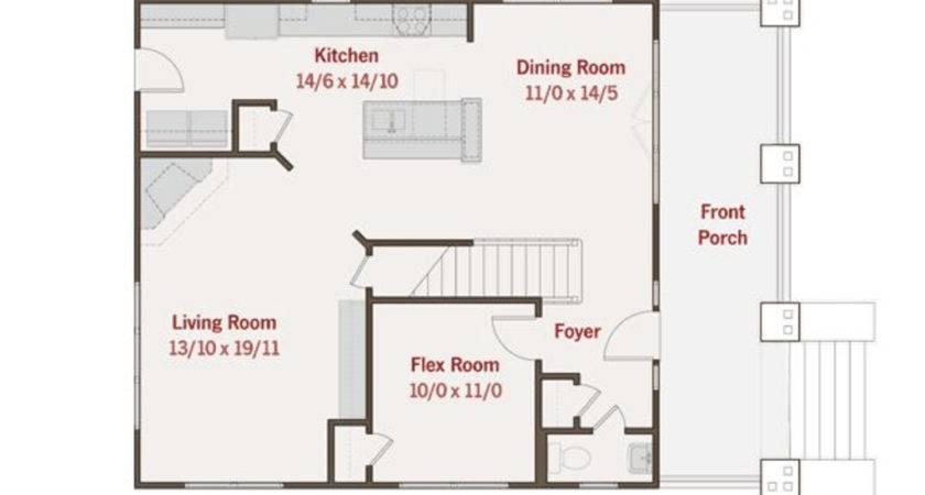 Craftsman Beds Baths Plan Main Floor
