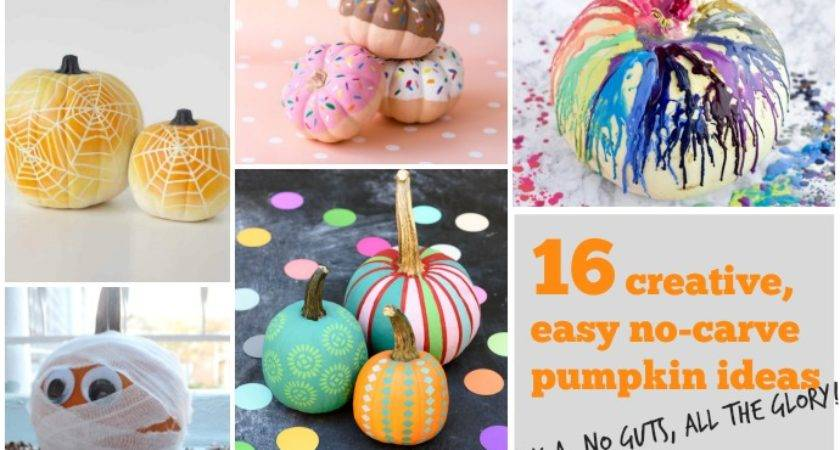 Creative Easy Carve Pumpkin Decorating Ideas Guts All