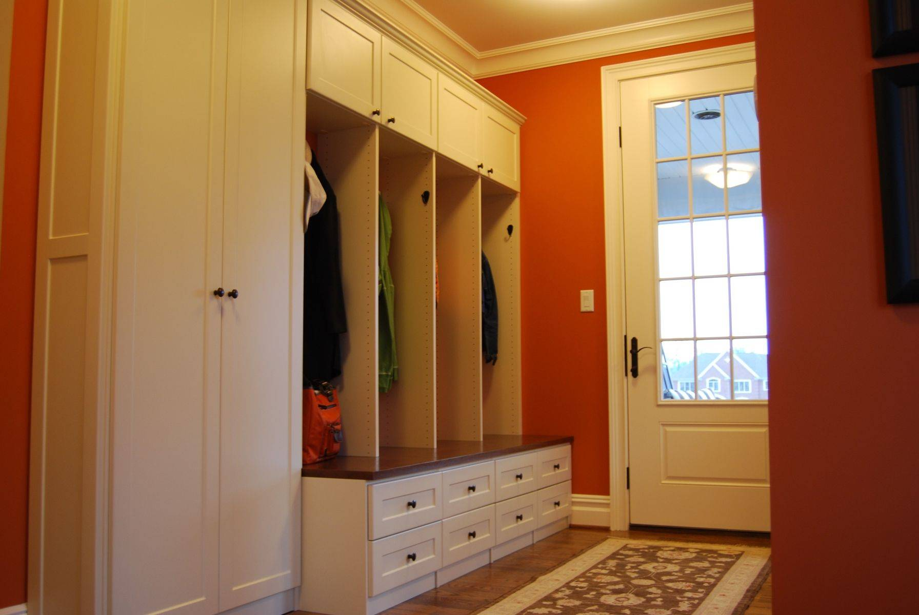 Custom Mud Room Lockers Home Office Creative Storage