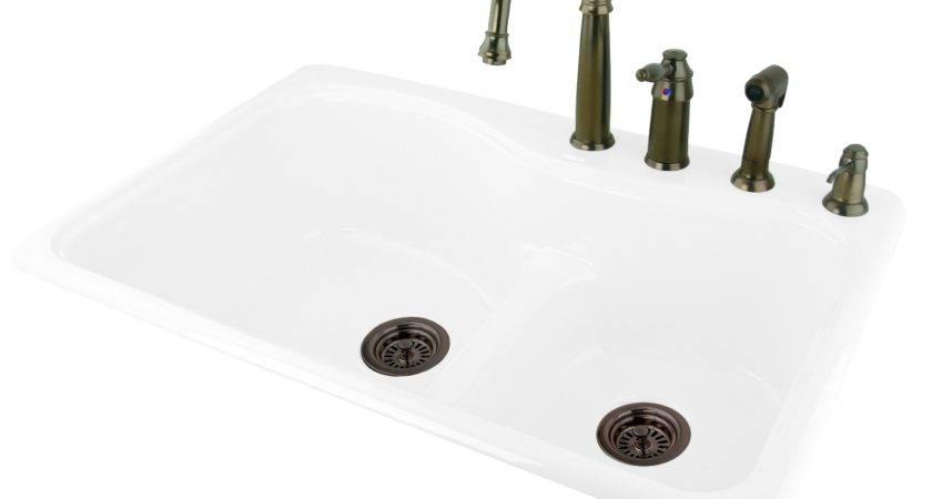 Dam Self Rimming Cast Iron Kitchen Sink Bluebath