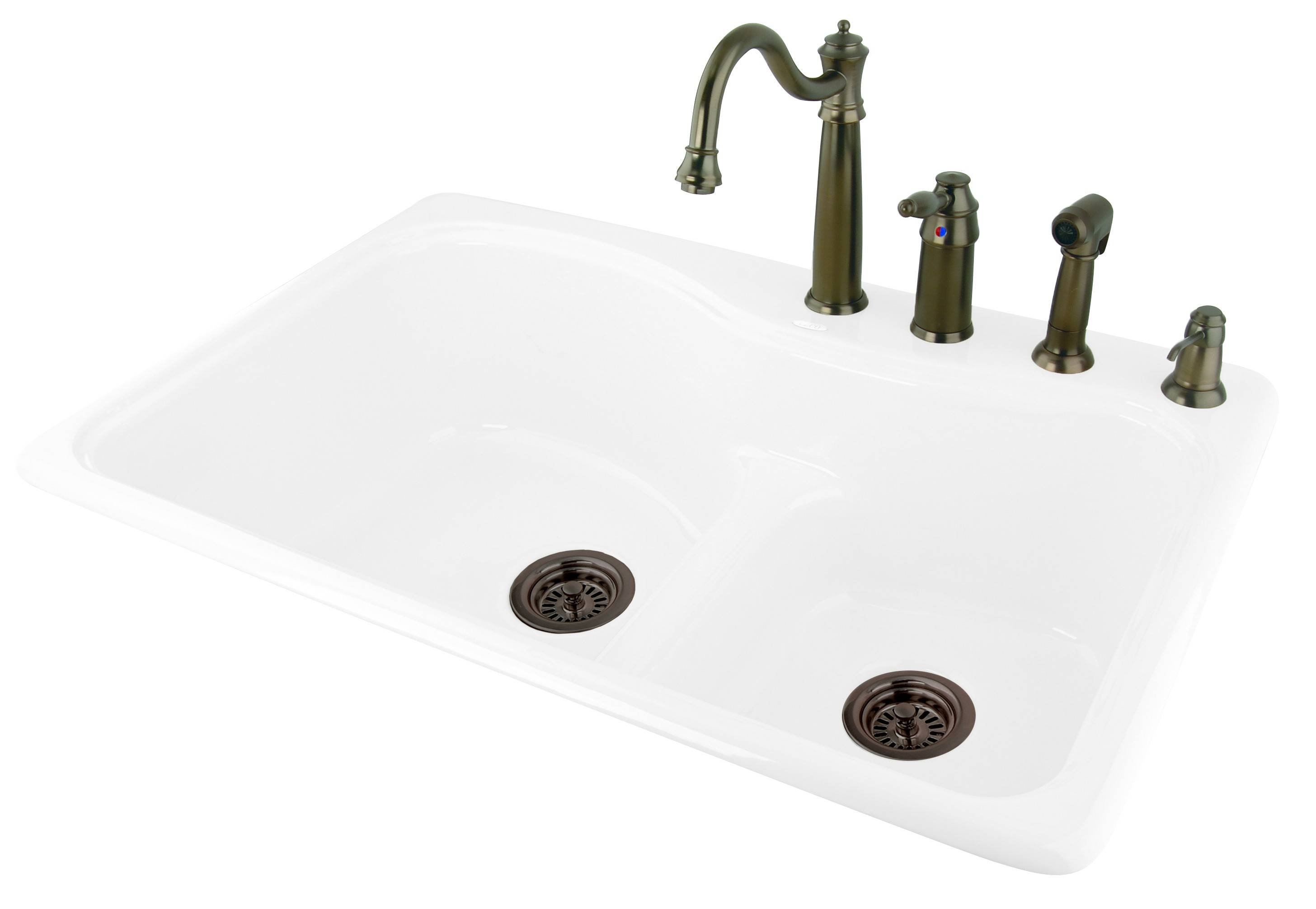 Dam Self Rimming Cast Iron Kitchen Sink Bluebath