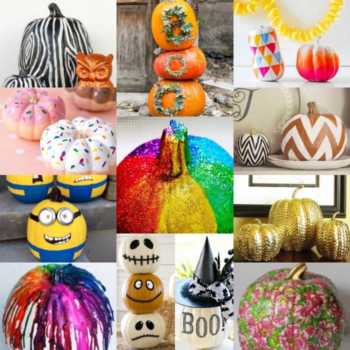Decorate Pumpkin Without Carving Easy Ideas