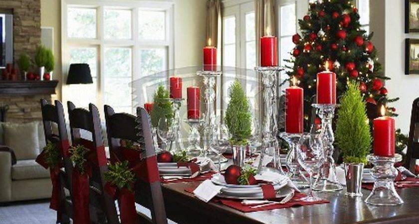 Decorations Dining Room Christmas Kitchen Table Decorating