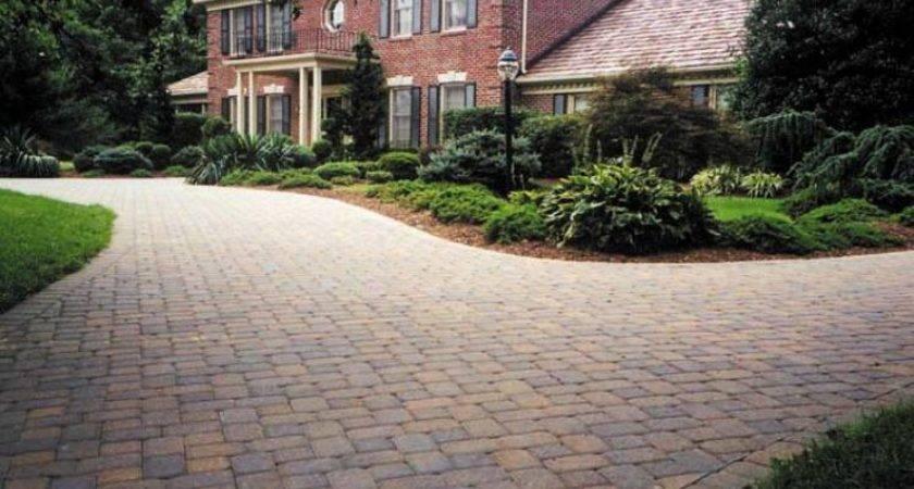 Decorative Driveways Entrance Landscaping Driveway