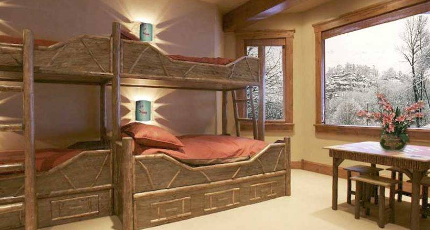 Design Astonishing Wooden Style Unique Bunk Beds Pink Bed Cover Arts