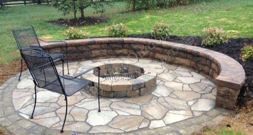 Designed Outdoor Fireplace Fire Pit Your Backyard