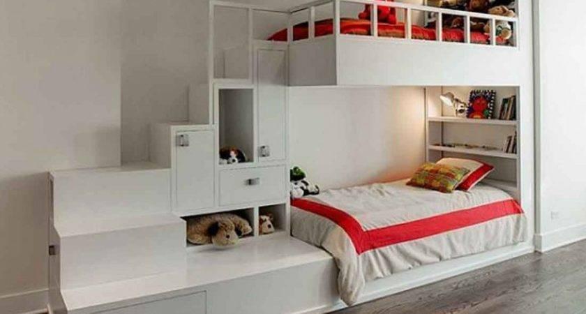 Designs Charming Kids Beds Storage Ideas White Loft Bunk Bed