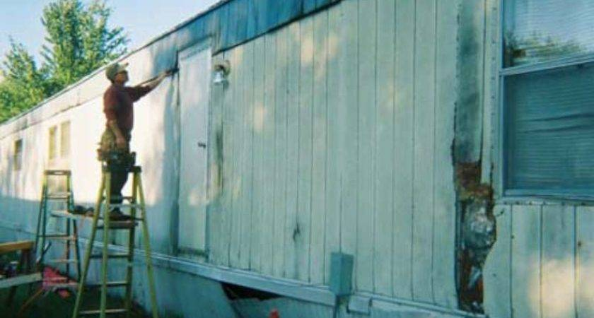 Deteriorated Siding Necessary Repairs Mobile Manufactured Homes